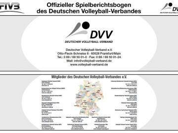 Intern. VB-Spielberichtsblock