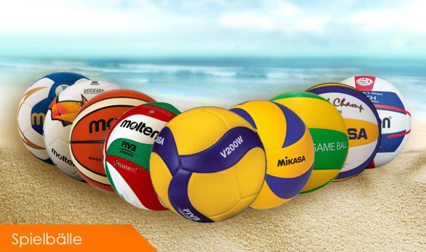 Spielbälle, Volleybälle, Fußbälle, Beach-Volleybälle
